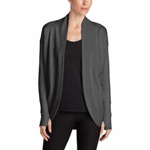 Eddie Bauer Ladies' Fleece Wrap Cardigan - Gray